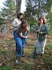 Tree Circle, Autumn 2003 : Planting trees at Amy's house!  Also, I receive many hats and scarves thanks to my wonderful friends.